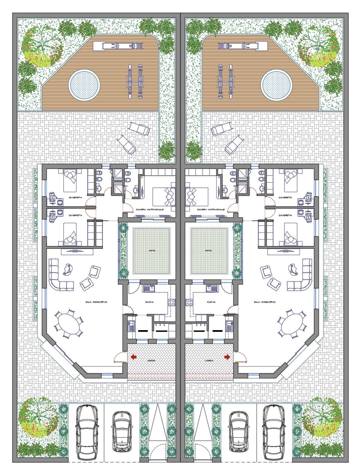 Casa con patio 06 dwg