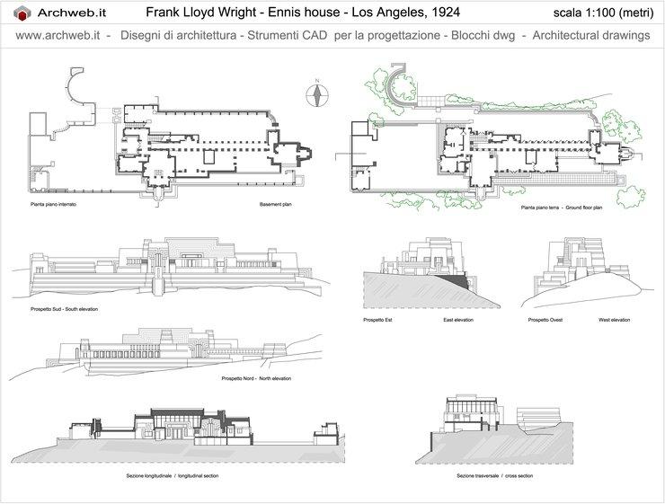 Ennis House Plan