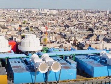 Aerial roof pompidou