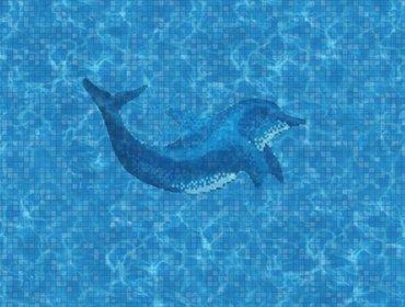 piscina con delfino 1