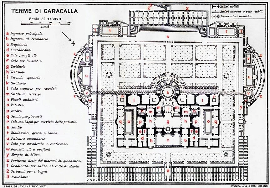 Planimetria Terme di Caracalla