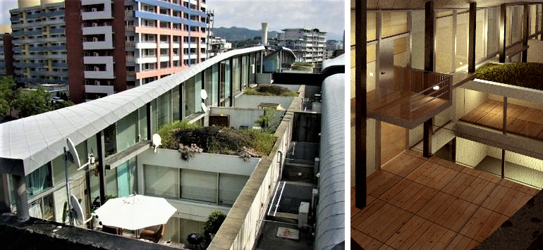 OMA/Rem Koolhaas housing, Nexus World, Fukuoka,