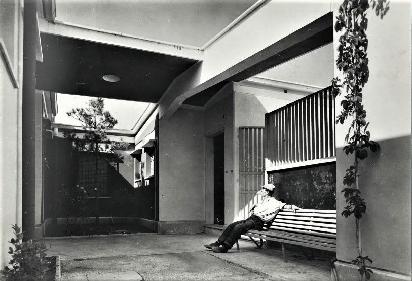 Patio interno – Adalberto Libera, quartiere Tuscolano