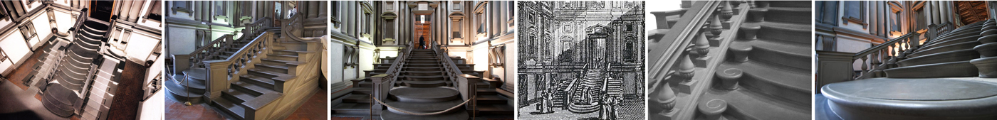La scala di Michelangelo nella Biblioteca Medicea Laurenziana