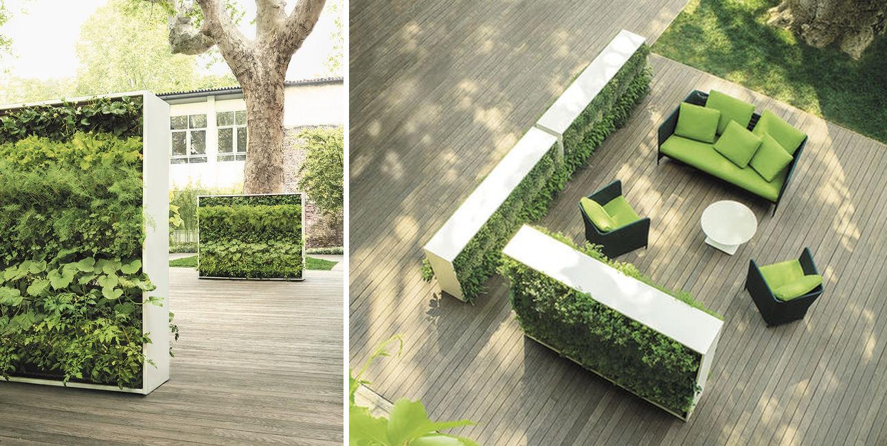 Divisori con verde per terrazze e giardini