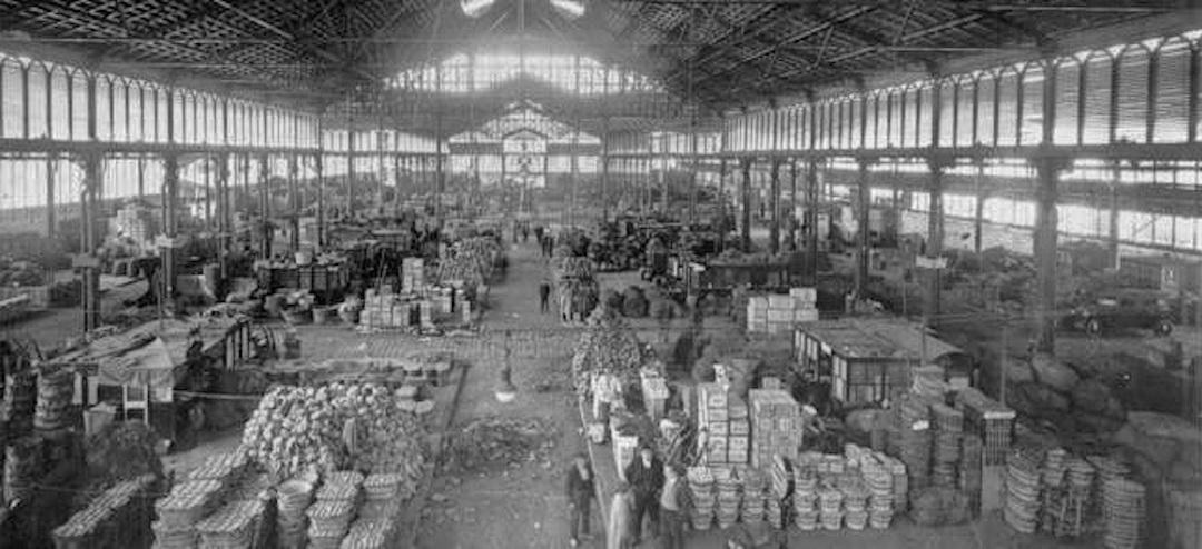 Capriate metalliche del mercato Born di Bacellona
